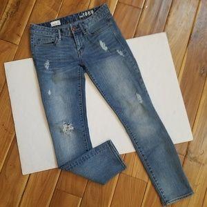 GAP 1969 Always Skinny Distressed Jeans